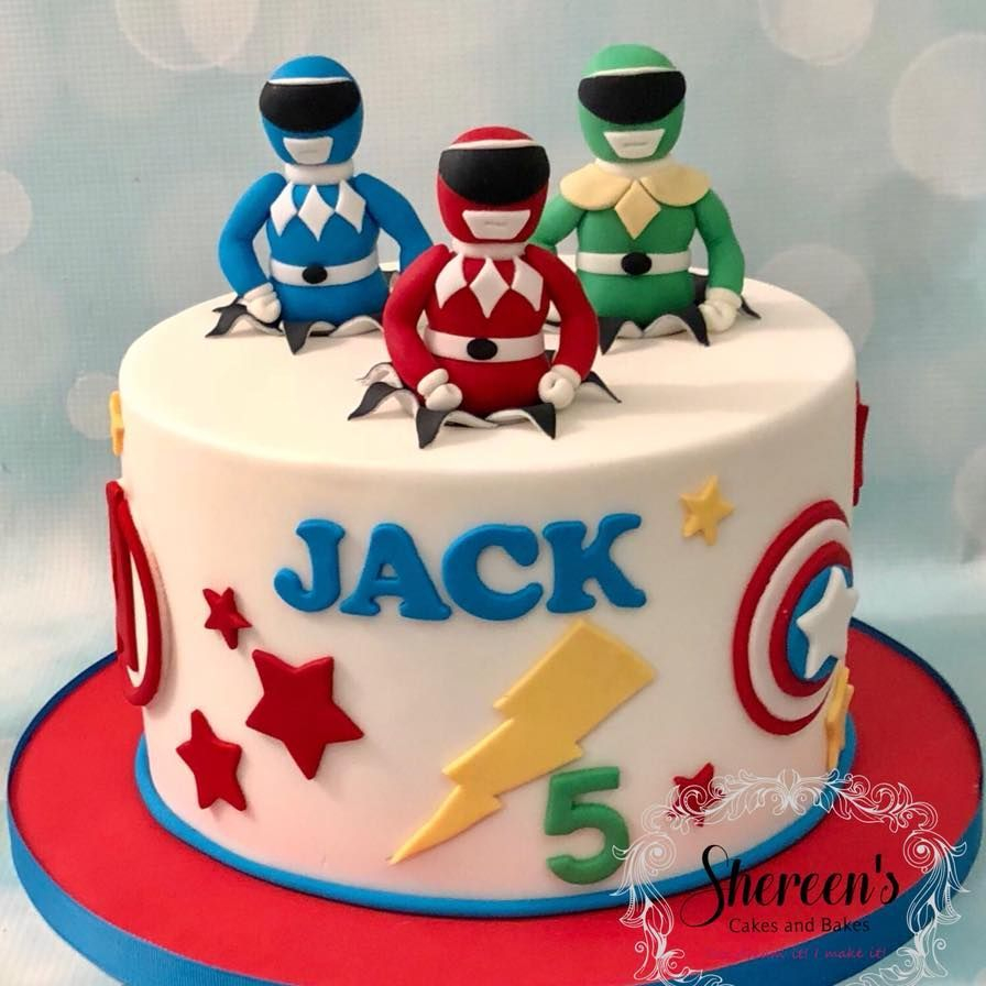 Power Ranger Birthday Cake Superhero Avengers