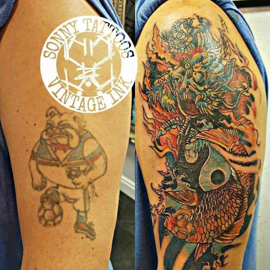 Vintage Ink Tattoo Cover Up