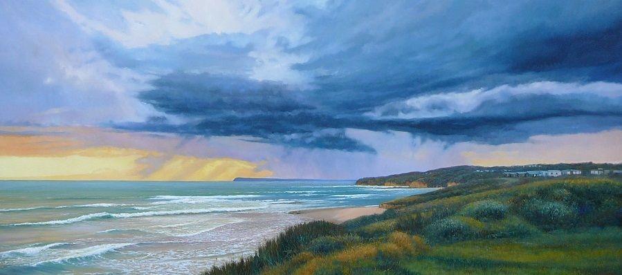 Kilcunda Storm Bass Coast Oil Painting