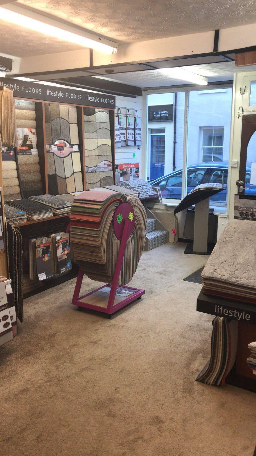 Carpet sample stands lifestyle