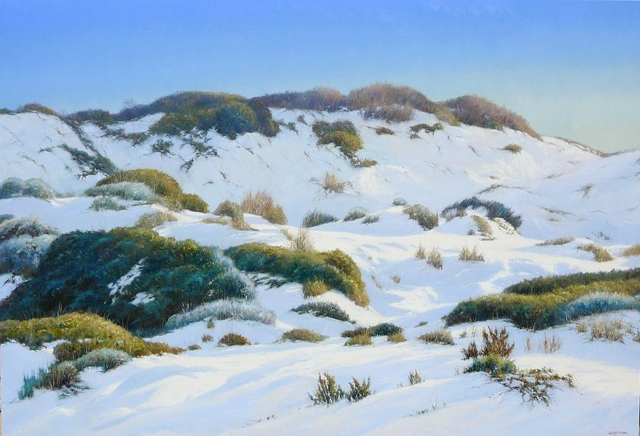 Lucky Bay Sand Dunes Oil Painting