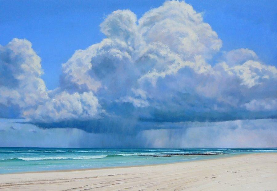 Kingscliff Storm Oil Painting Cloudscape