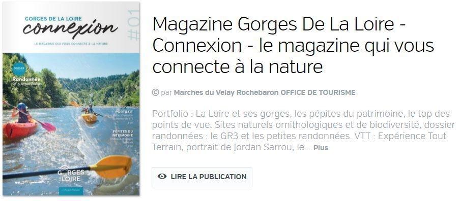 Magazine Gorges de la Loire Haute-Loire Saint Didier en Velay Chez Martine et Philippe