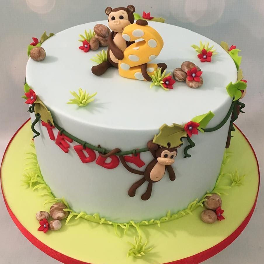 Jungle Monkey Cheeky Cake Birthday Novelty Vines