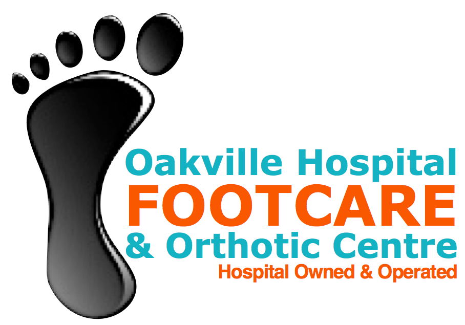 Oakville Hospital Footcare & Orthotic Centre Logo with a Foot Image