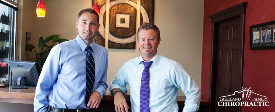 Auburn chiropractor Jason Henke with fellow doctor