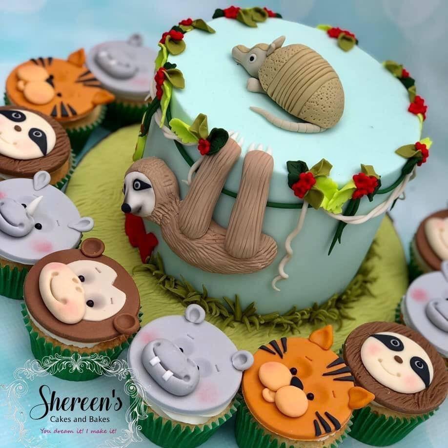 Sloth Armidillo Cake