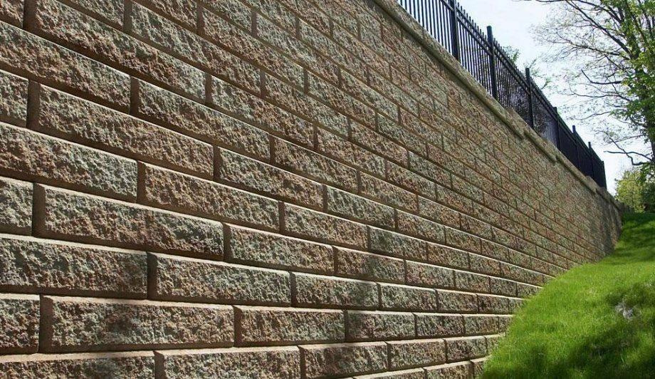 Retaining wall, stone, Cambridge