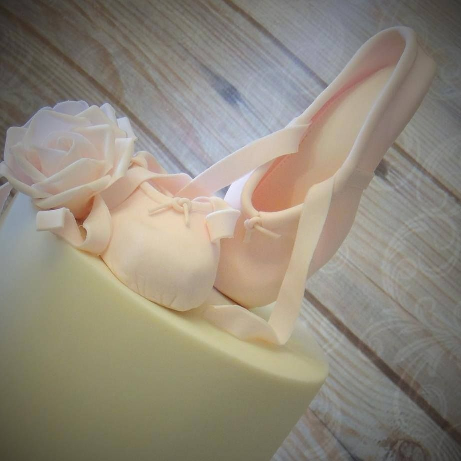 Ballet Shoes Pumps Cake Birthday Celebration Light Pink