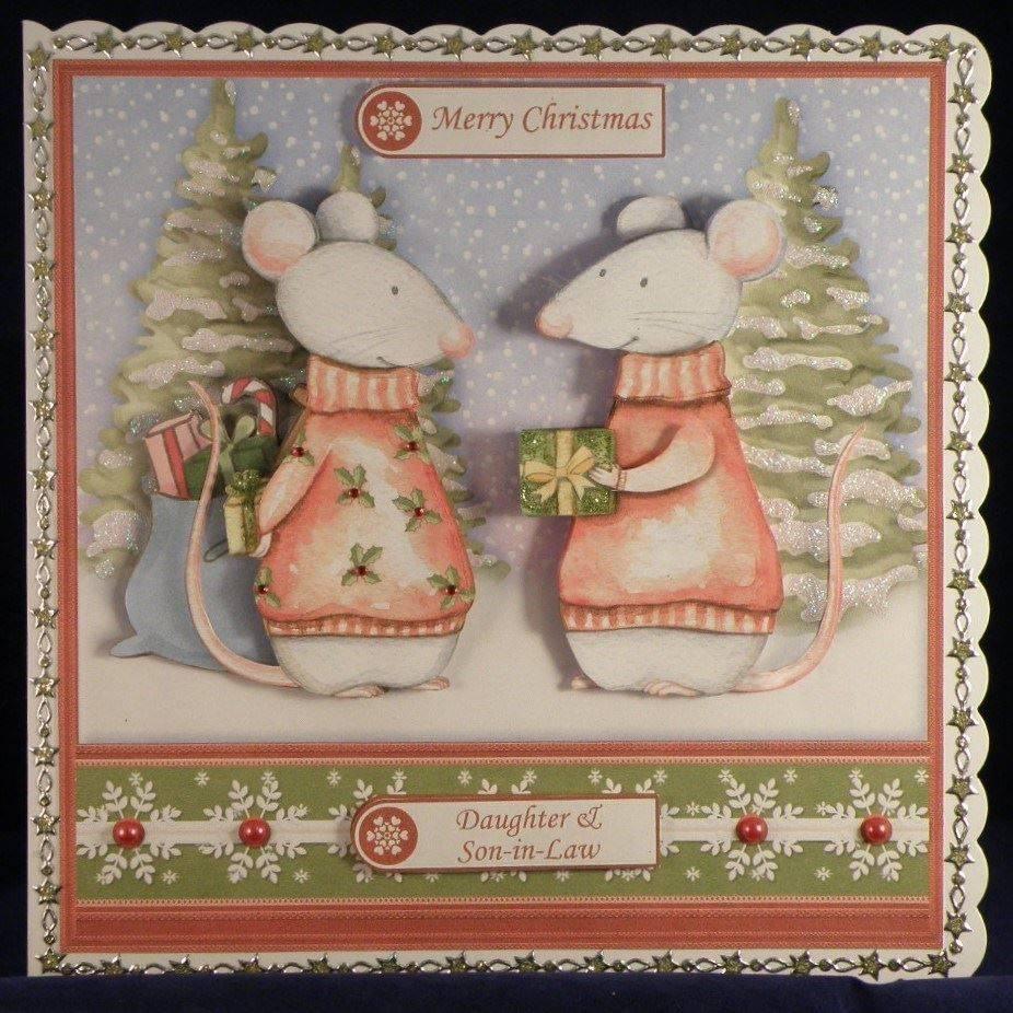 Mr & Mrs Snowman Christmas Gifting Mice