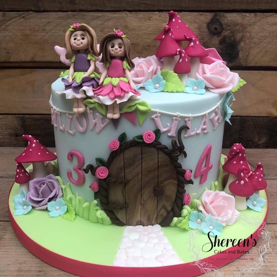 birthday cake fairy garden toadstool pretty