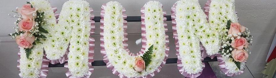 Mum funeral flower letter tribute Leeds