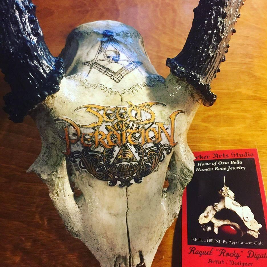 bat bones skull satantic