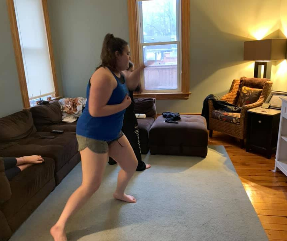 Virtual Karate and Cardio-Kickboxing Classes for Teenagers