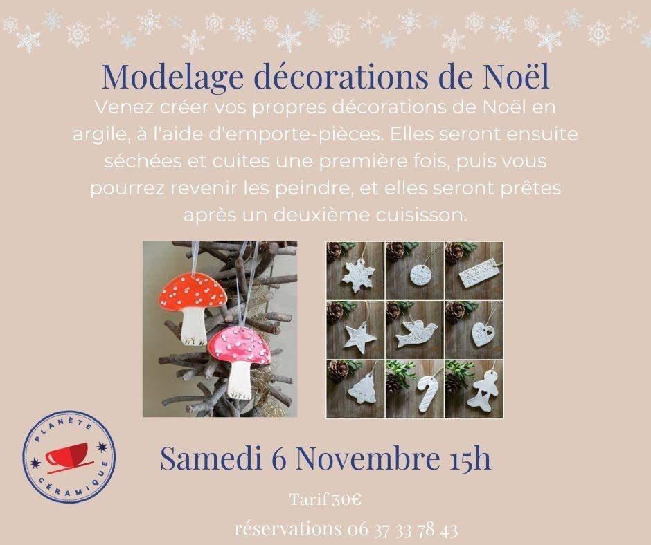 Atelier modelage décorations de noël