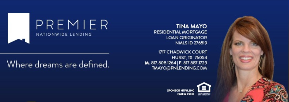 Home Lender Tina Mayo, Searchers Inspections Recommended Lender
