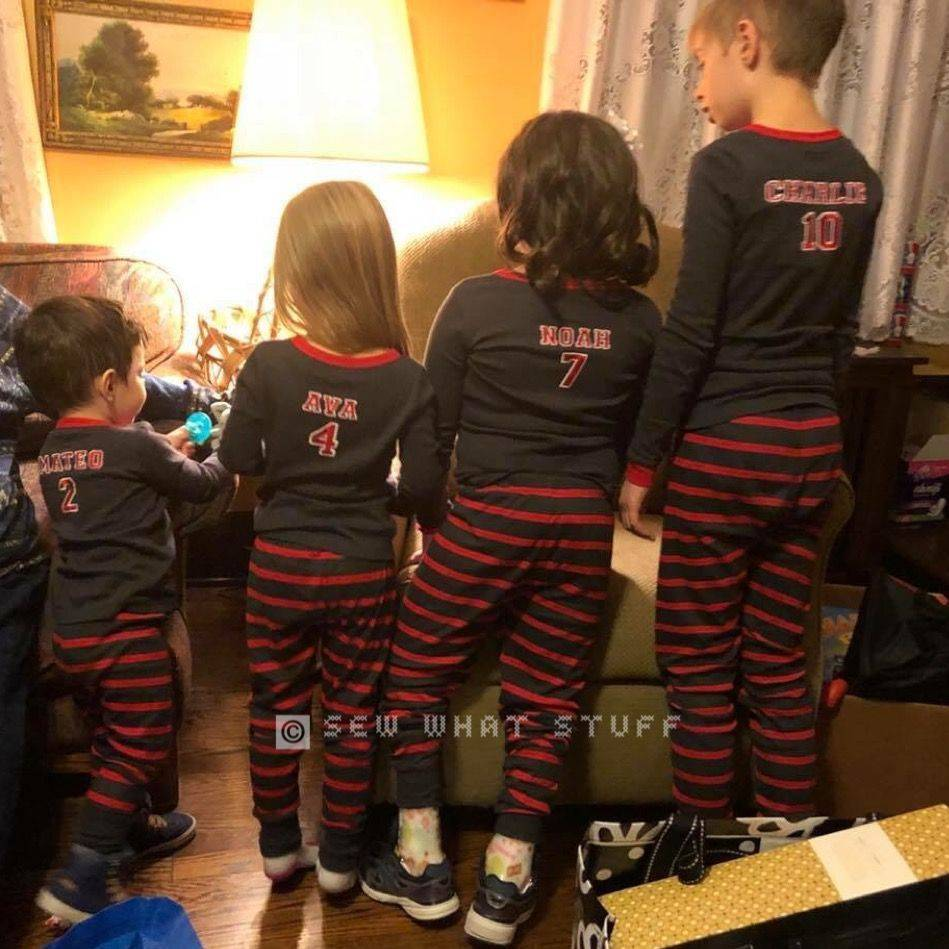 Custom Embroidered Pajamas