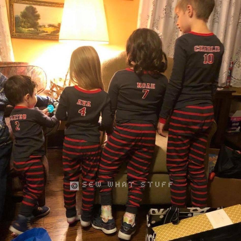 Custom Embroidered Pajamas