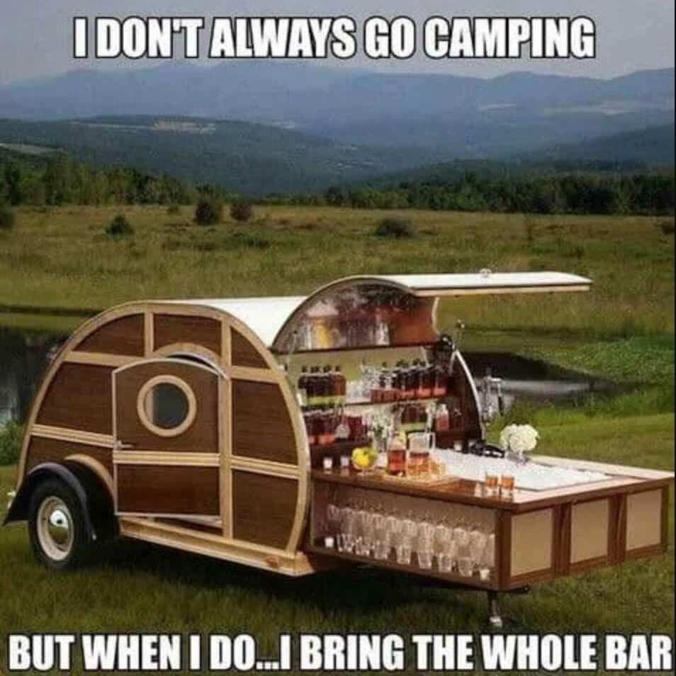 Camper, bar, trailer, travel, RV Park, camping