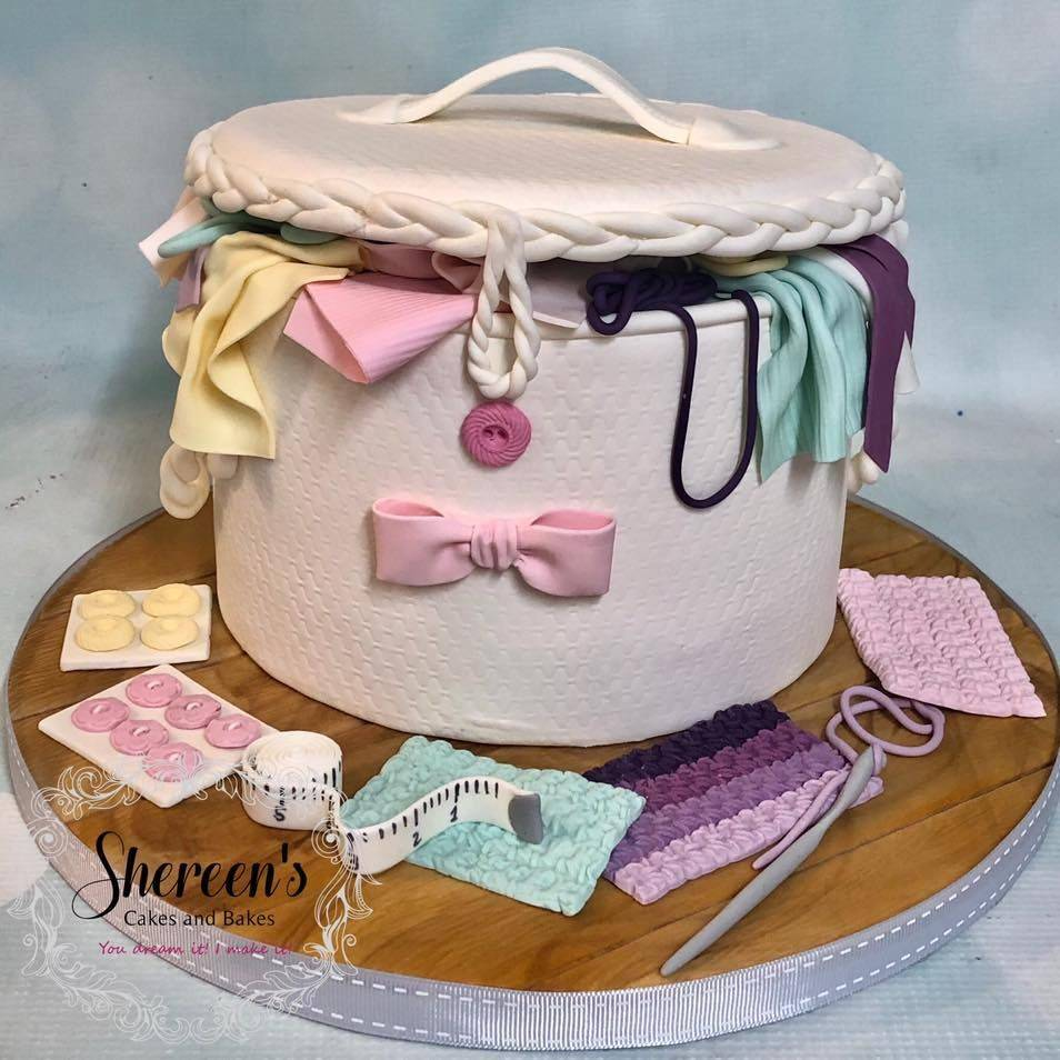 Sewing Basket Cake