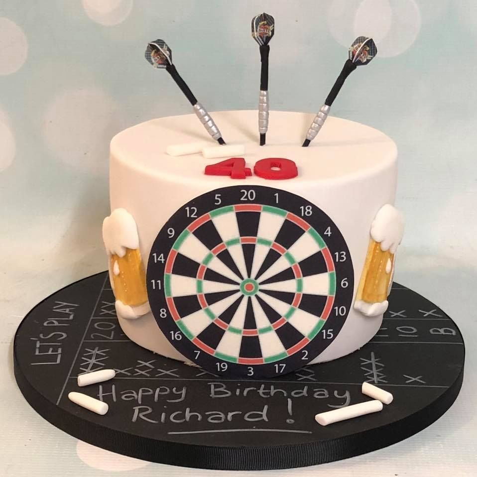 Birthday Cake Dart Board