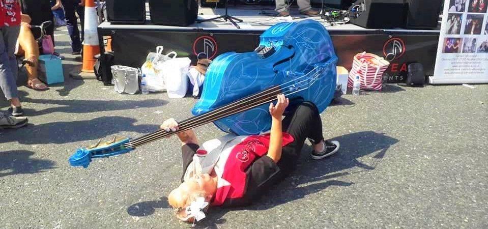 The Best Female Double Bass Player Little Miss Blue Bass