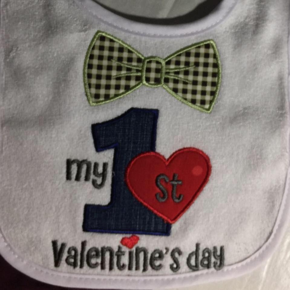 First Valentine's Bib