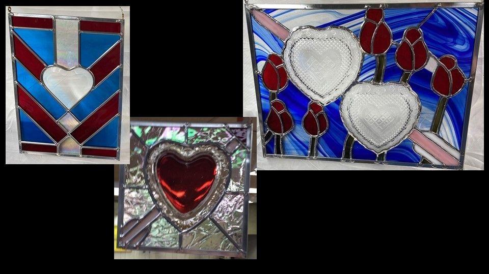 Heart Panel and Glassware designs