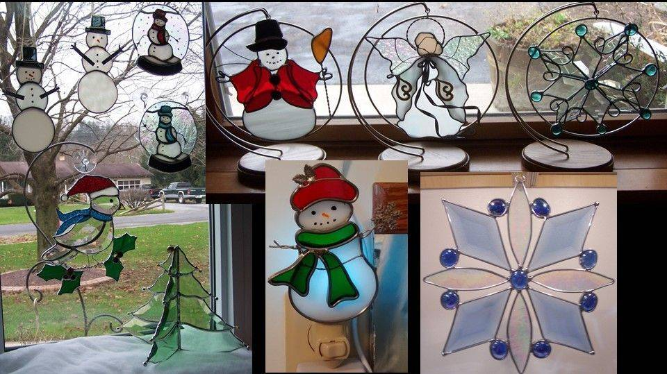 Small panel and sampling of sun catchers