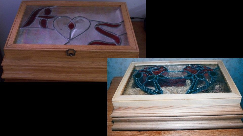 Wooden jewelry boxes with customized glass lids