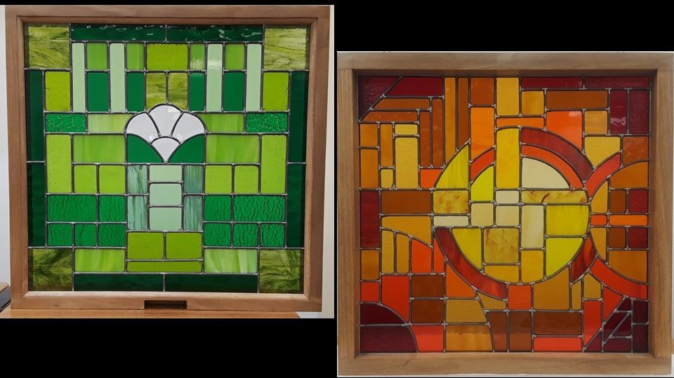 Green Themed custom panel and Red/Orange Themed Custom Panel