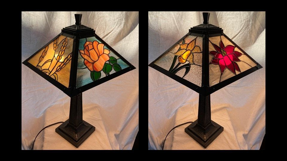 Four Seasons lamp shade