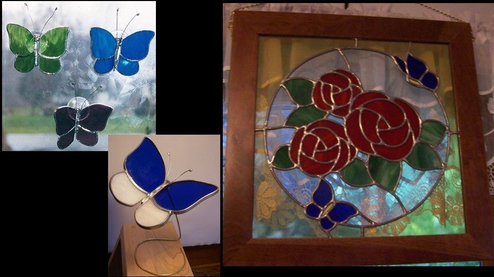 Butterfly Sun Catchers and rose/butterfly panel