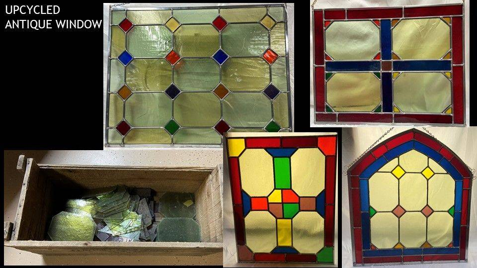 Up cycling reclaimed glass