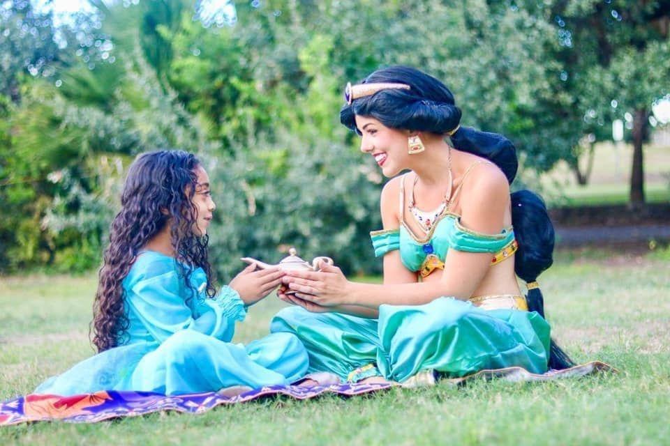 Princess Jasmine for kids parties in San Antonio TX