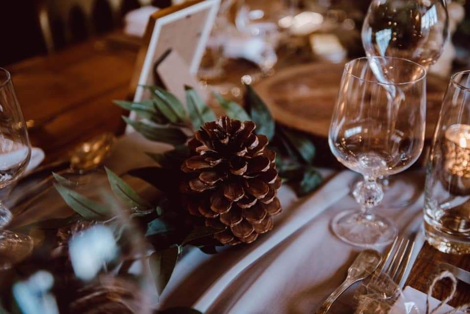 Winter wedding styling by Love By Design Weddings at Burley Manor Barn