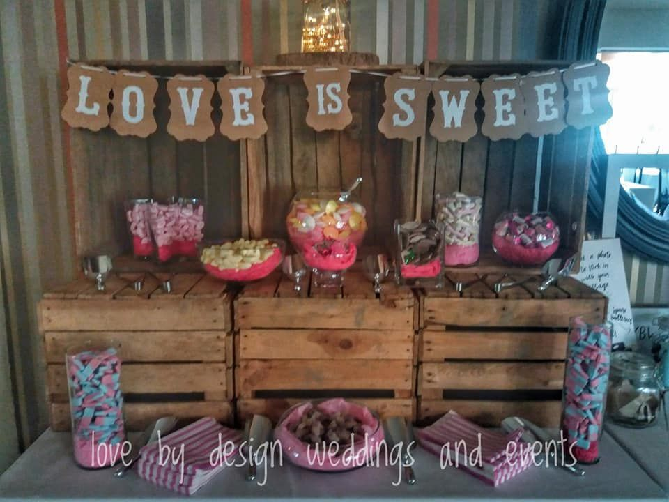 Rustic sweet cart ideas for weddings