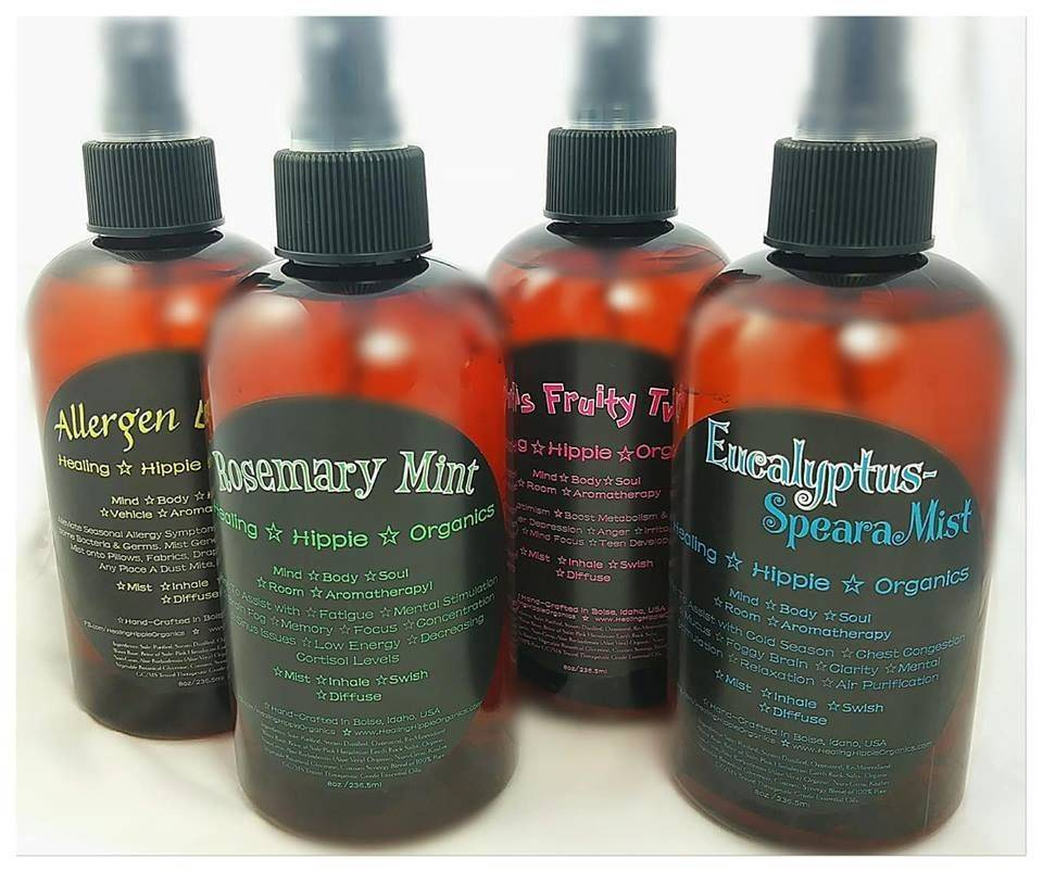 Allergen Buster, Rosemary Mint, Citrus Fruity Twist, Eucalyptus Spearamist, Healing Hippie Organics, Boise, Idaho, USA