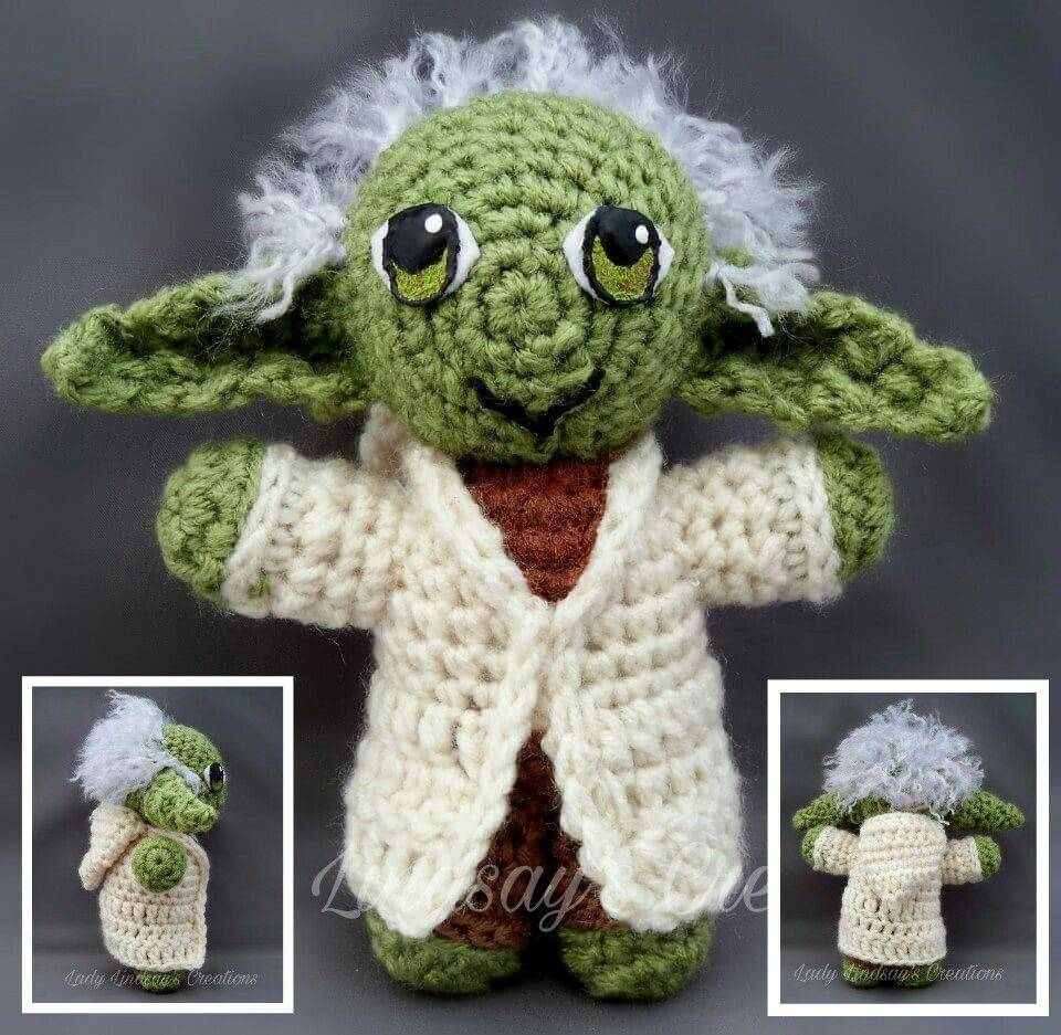 Yoda, Star Wars, Jedi, Jedi Master, Amigurumi, plush, doll, handmade,  Kawaii, nerd, geek