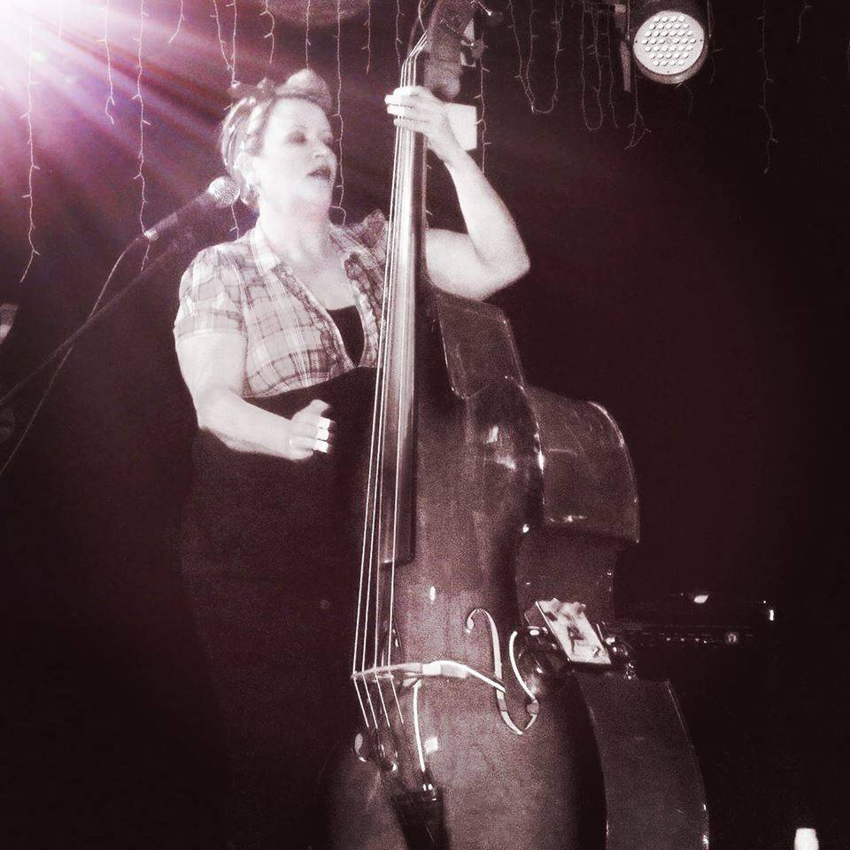 Best Female Rockabilly Bass Contact Player Little Miss Blue Bass