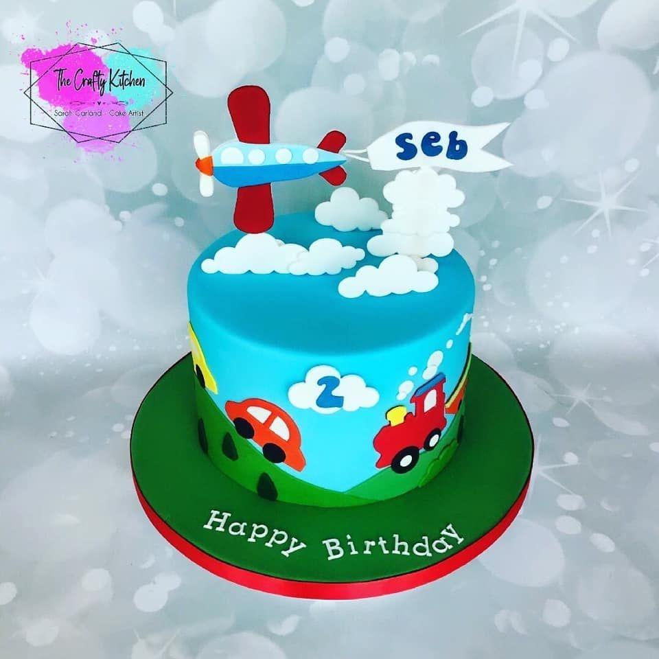 Children's birthday cakes , Planes, trains