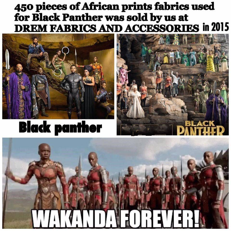 black panther, African prints, wholesale wax prints