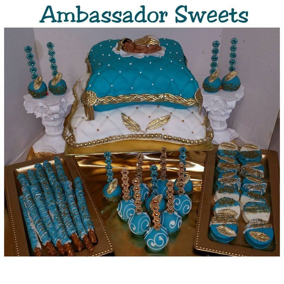 Evening gown dessert stand by ambassadorsweets.com