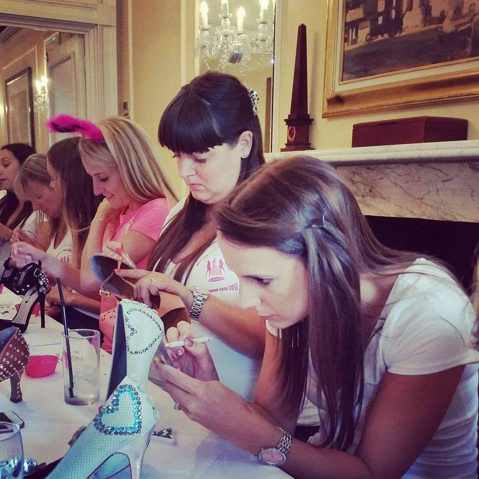 shoe decorating hen party creative day out workshop