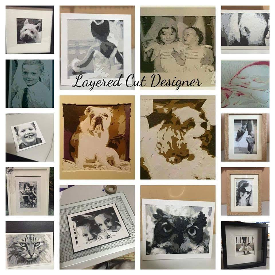 crafting software, bramble crafts, layered papercuts, bespoke gift, handmade gift