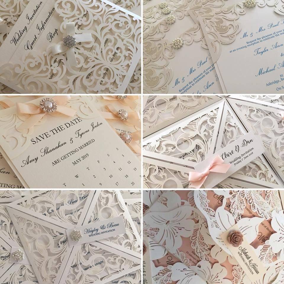 wedding invitations/wedding stationery/lasercut wedding invitations/wedding invitations london