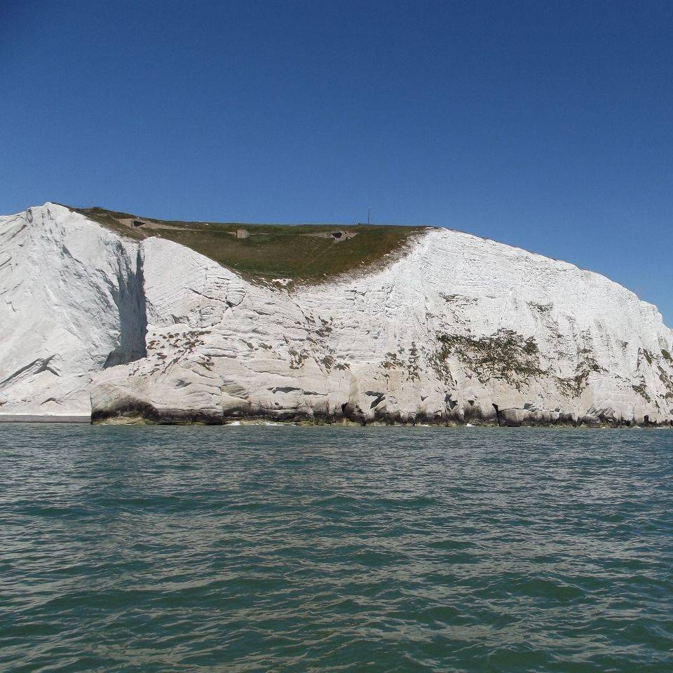 The white cliffs at Scratchells bay, Isle of Wight