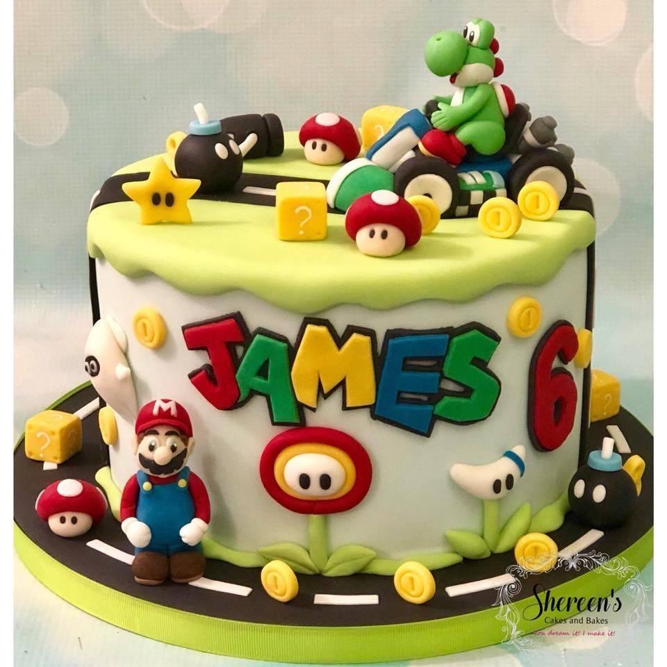 Birthday Cake Super Mario Kartz Karts Bomb