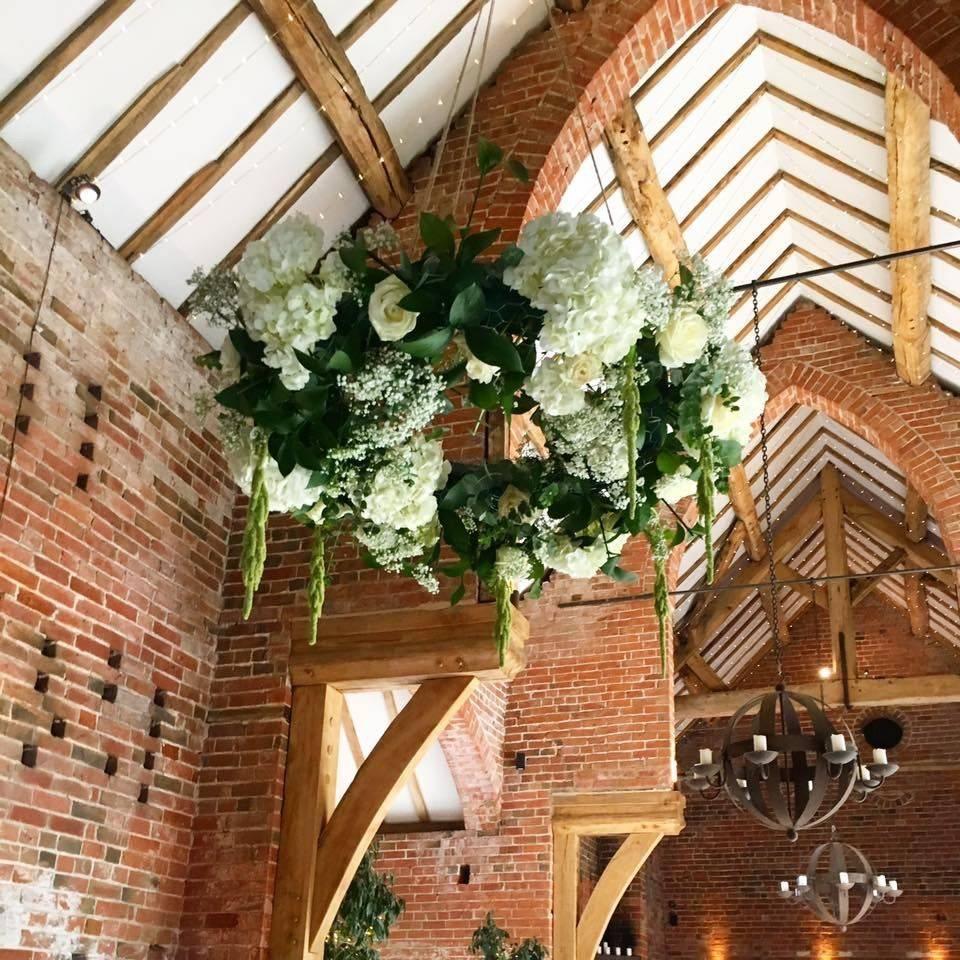 Shustoke Barn, Floral Chandelier, Hydrangea, Rustic wedding, Warwickshire florist, Solihull florist