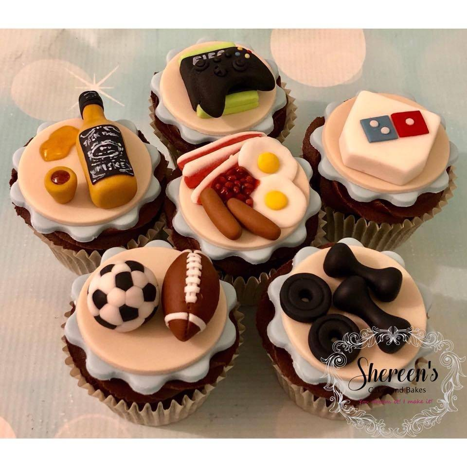 Cupcakes Xbox Whiskey Dominos Pizza Football Soccer Breakfast Weights Teenage Boy